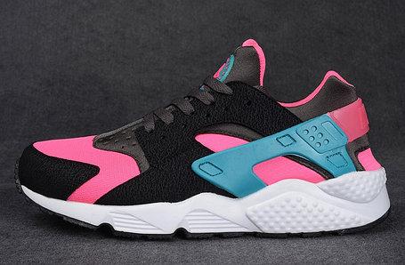 Кроссовки Nike Air Huarache черный и розовый, фото 2