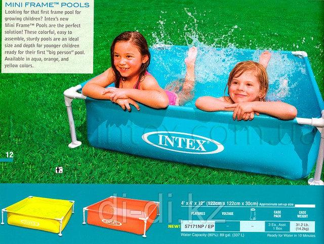 Детский каркасный бассейн Intex Mini Frame Pool 122*122*30 см