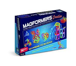 Magformers Магнитный конструктор Базовый Набор Creative из 90 элементов