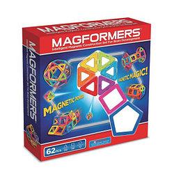 Magformers Магнитный конструктор Базовый Набор из 62 элементов