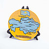 "Сувенирная тарелка ""Карта Казахстана_lat"" 10*10 см"
