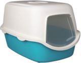 Trixie бирюзовый/сливки Закрытый туалет для  кошек 40×40×56см