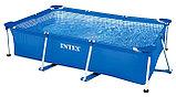 Каркасный сборный бассейн Intex Rectangular Frame Pool  260х160х65 см. , фото 3