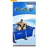 Каркасный сборный бассейн Intex Rectangular Frame Pool  260х160х65 см. , фото 5