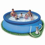 Надувной бассейн Intex Easy Set Pool. 366 х 91 см. с фильтром , фото 4