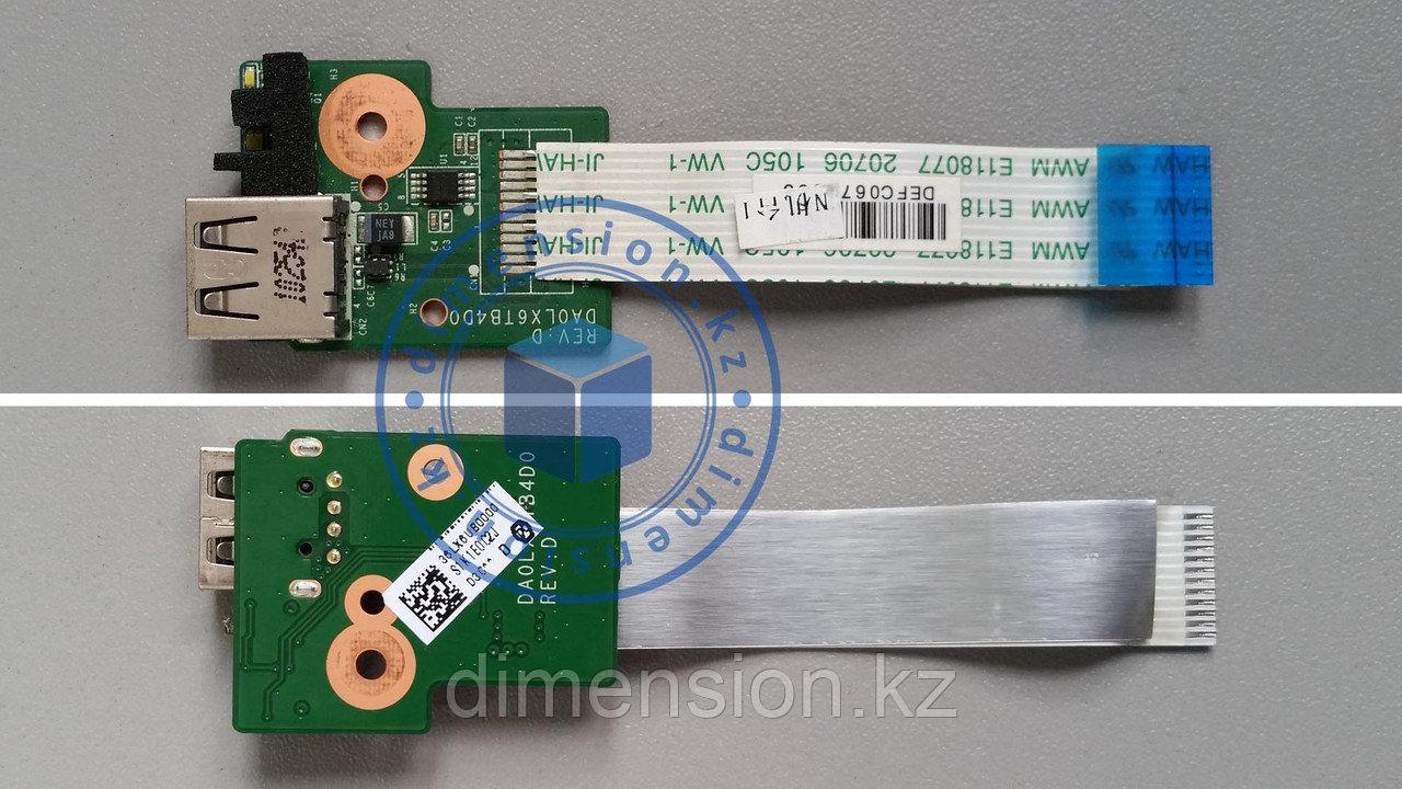 USB 2.0 плата, порт, разъем HP dv6-3000 DAOLX6TB4D0