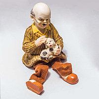 """Украшение для дома """"Дедушка с собакой"""" (14см)"""