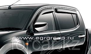 Дефлекторы боковых окон Mitsubishi L200 2007- темные, 4 части, EGR
