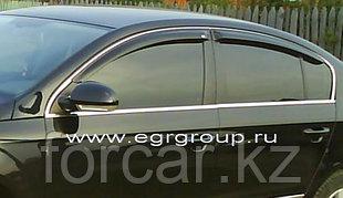 Дефлекторы боковых окон 4 шт. черные Volkswagen Passat (2006-2010)
