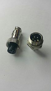 Разъем штыревой на блок с гайкой 5pin 16mm