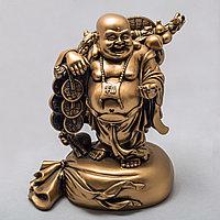 """Статуэтка позолоченная """"Будда на мешке"""" (26 см)"""