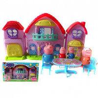 Свинка Пеппа с семьей и домиком, набор(не оригинал), фото 1