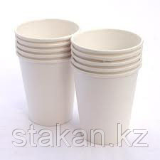 Бумажный стакан 250 мл, белый (ОПТОМ)