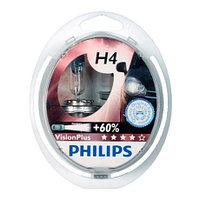 Philips Vision Plus галогеновая лампа для фар головного освещения H4 S2