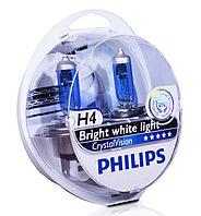 Галогеновая лампа для фар головного освещения H4 W5W Philips Crystal Vision