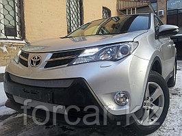 Защита радиатора Toyota Rav 4 (Стандарт) 2013- chrome низ
