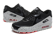 Кроссовки Nike Air Max 90 Essential Black gray Red (36-46), фото 3