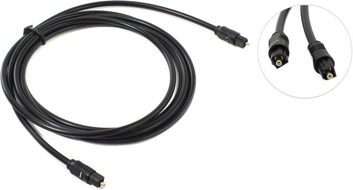 Цифровой оптический аудиокабель с разъемами ODT Male Plug (Toslink) для соединения устройств по интерфейсу S/P