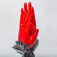 """Статуэтка """"Руки влюблённых. Всегда вдвоем"""" (красные)"""