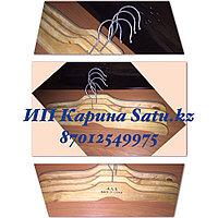Плечики деревянные для мужской (3 туза) одежды 49 см светлые