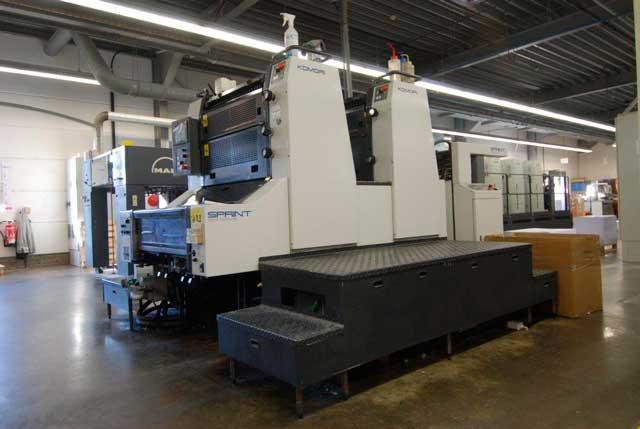 Komori Sprint S228P б/у 2004 - 2-красочное печатное оборудование