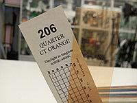 Cotech 206 QUARTER CT ORANGE светофильтр для осветительных приборов, фото 1