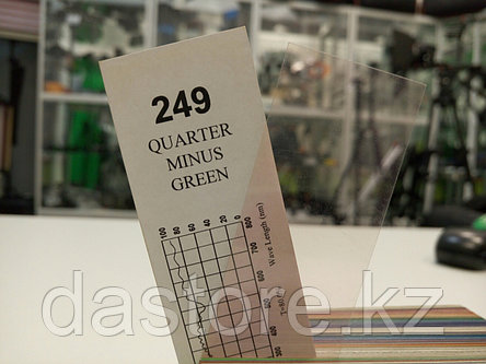 Cotech 249 QUARTER MINUS GREEN светофильтр для осветительных приборов, фото 2