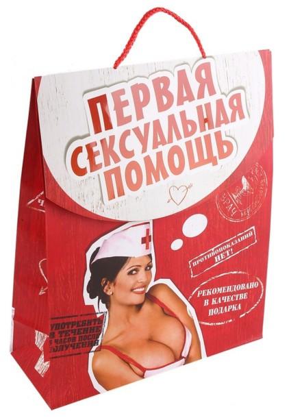 Пакет конверт бумага ML Первая сексуальная помошь (ламинация) интим 643187