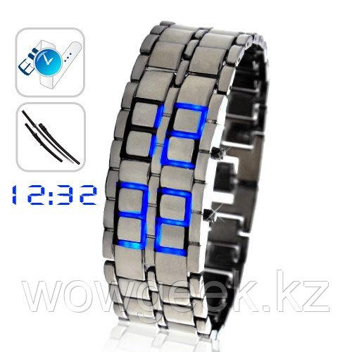 Самурайские Светодиодные Часы (Синие)