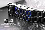 Самурайские Светодиодные Часы (Синие), фото 4