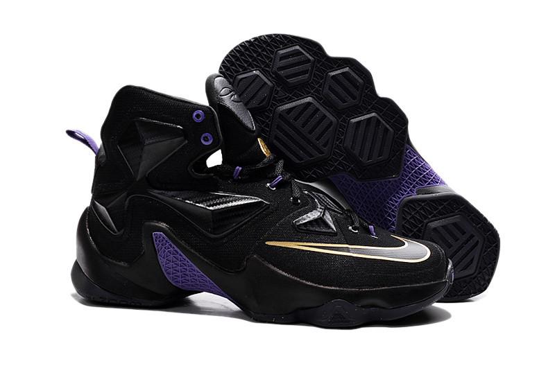 Кроссовки Nike LeBron XIII (13) Gold Purple Black (36-47)