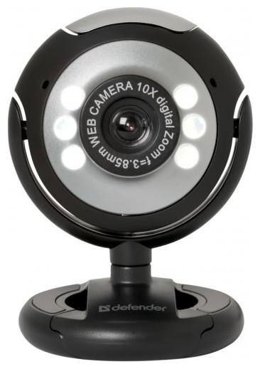 Defender 63110 C-110 Веб-камера 0.3 МП, подсветка, кнопка фото
