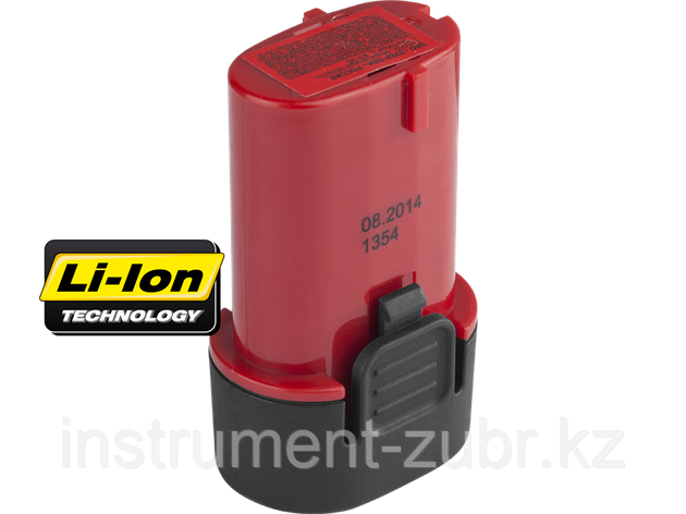 Батарея аккумуляторная Li-Ion, ЗУБР Профессионал ЗАКБ-7.2 L15, для отвертки ЗО-7.2-Ли КН, 1.5А/ч, 7.2В, АКБ Samsung, фото 2