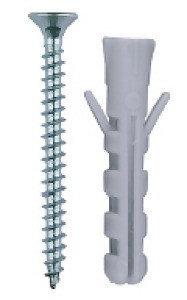 """Дюбель распорный полипропиленовый, тип """"ЕВРО"""", в комплекте с шурупом, 6 х 30 / 3,5 х 40 мм, 15 шт, ЗУБР, фото 2"""