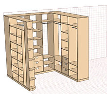 Гардеробная в комнату 2,4м*2,2м(5,28 кв.м.)