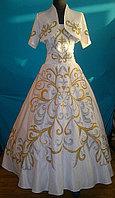 Свадебное платье в комплекте с болеро и саукеле