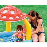Надувной детский бассейн Intex «Мухомор» с навесом, фото 3