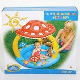 Надувной детский бассейн Intex «Мухомор» с навесом, фото 4