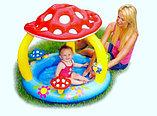Надувной детский бассейн Intex «Мухомор» с навесом, фото 5