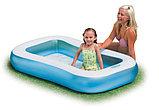 Детский бассейн с надувным дном 166х100х28см intex, фото 2