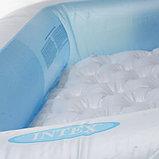 Детский бассейн с надувным дном 166х100х28см intex, фото 5