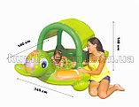 Надувной бассейн-игровой центр ЧЕРЕПАШКА с навеcoм, 180х145х104 см от 2 лет, Intex, фото 4