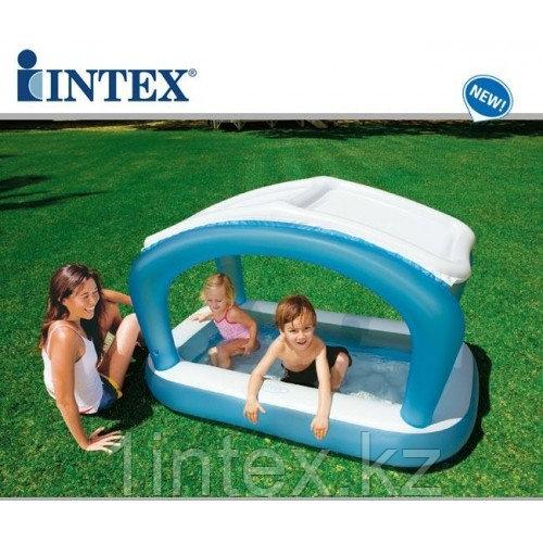 Надувной детский бассейн c навесом Intex