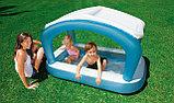 Надувной детский бассейн c навесом Intex, фото 2