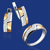 Ювелирные изделия из серебра с золотом. Также работаем оптом. Условия и цены уточняйте.