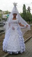 Платье свадебное в национальном стиле с саукеле и фатой