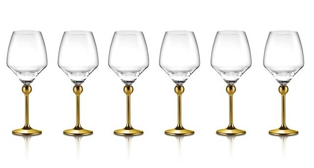 Сет Магическая гармония 6 бокалов для красного вина с позоченными ножками