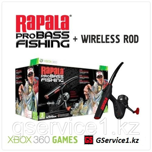 Rapala pro Bass Fishing Game & Rod (Xbox 360)