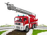Пожарная машина MAN с лестницей и помпой Bruder (Брудер) (Арт. 02-771, 02771), фото 7
