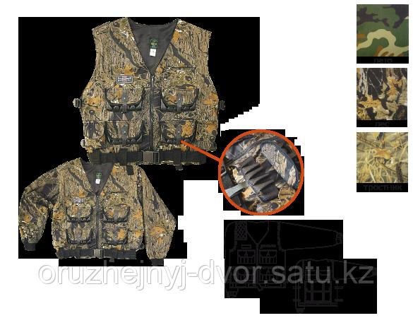 """Куртка-жилет охотника разгрузочный """"Люкс-2"""" 96-108/112-124 (лес)"""